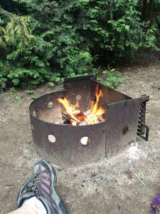 Campfire at Trailer